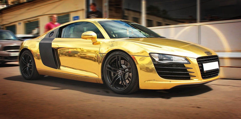 Audi wrapping Torino giallo cromato