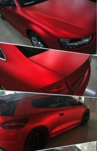 wrapping totale auto rosso